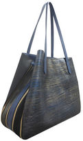 Sondra Roberts Gusset Leather Tote Bag