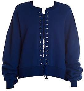 Unravel Project Women's Terry Lace-Up Sweatshirt