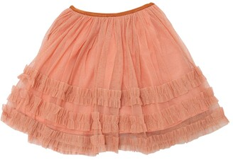 Caramel Baby And Child Glittered Stretch Tulle Skirt
