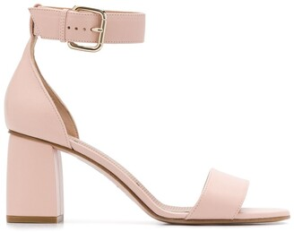 RED Valentino ankle strap chunky heel 80mm sandals