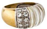 Ring 18K Diamond & Quartz Band
