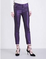 J Brand Alana skinny mid-rise coated jeans
