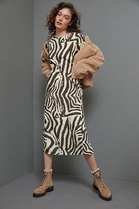 Corey Lynn Calter Zebra Maxi Tee Dress By in Assorted Size XS