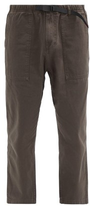 Gramicci Patch-pocket Cotton-twill Trousers - Dark Brown