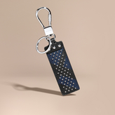 Burberry Riveted London Check Key Ring