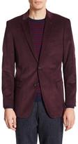 U.S. Polo Assn. Burgundy Corduroy Two Button Notch Lapel Jacket