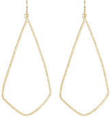 Dogeared 14K Gold Plated Sterling Silver Sparkle Swing Shape Earrings