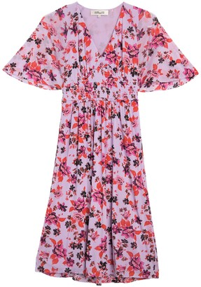 Diane von Furstenberg Nala Floral Smocked Midi Dress