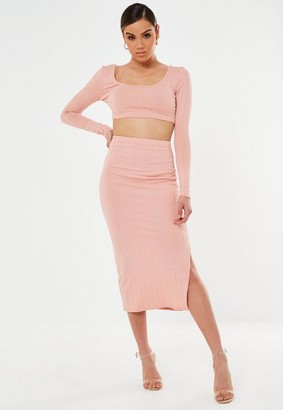 Missguided Co Ord Bandage Midaxi Skirt