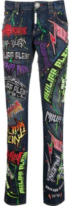 Philipp Plein Rock PP straight-fit jeans