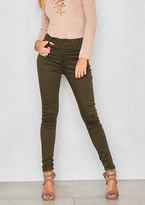 Missy Empire Robin Green High Waisted Skinny Jeans