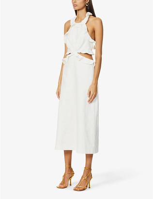 Zimmermann Halterneck cut-out linen maxi dress