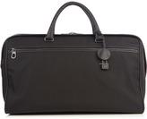 Bottega Veneta Intrecciato leather-trim canvas travel bag