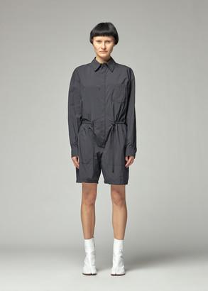 Maison Margiela Women's Nylon Short Jumpsuit in Black Size 38