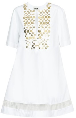 Maison Rabih Kayrouz Poplin embroidered short dress