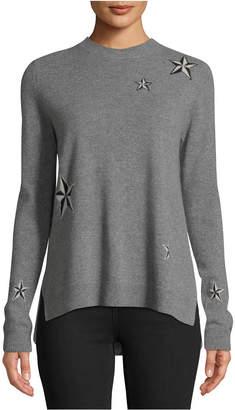 Nicole Miller Cashmere Star-Print Sweater