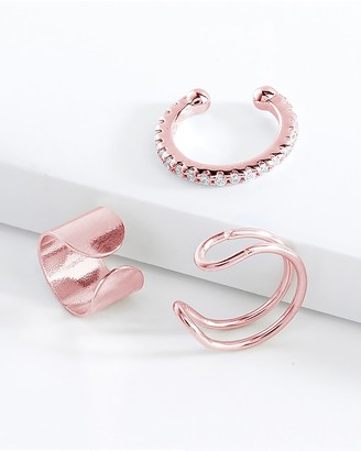 Express Sterling Forever Set Of 3 Ear Cuffs