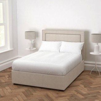 The White Company Cavendish Linen Union Bed - Headboard Height 130cm, Natural Linen Union, Super King
