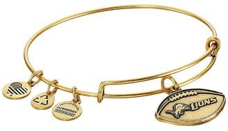 Alex and Ani NFL Detroit Lions Football Bangle (Rafaelian Gold) Charms Bracelet