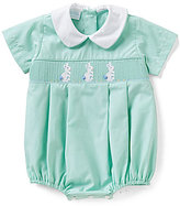 Edgehill Collection Baby Boys 3-9 Months Easter Bunny Smocked Shortall