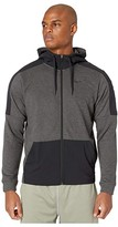Nike Dry Hooded Long Sleeve Full Zip Fleece Plus (Black Heather/Black/Black) Men's Clothing