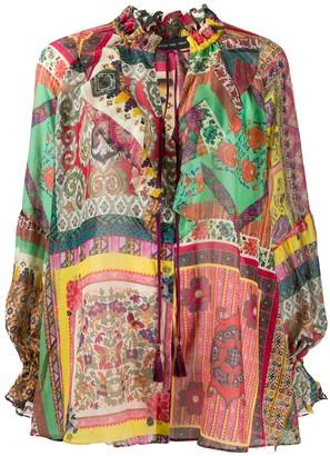 Etro Patchwork print gauze shirt