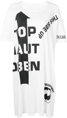 Maison Margiela slogan detail T-shirt dress