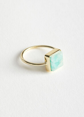 And other stories Square Stone Pendant Ring