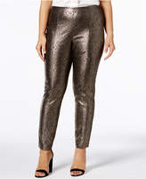 Alfani Plus Size Metallic Skinny Pants, Created for Macy's