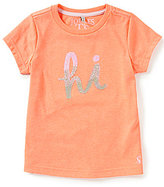 Joules Little Girls 3-6 Astra Sequined Hi & Bye Short-Sleeve Tee