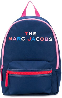 Little Marc Jacobs Logo-Print Zipped Backpack
