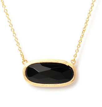Rivka Friedman 18K Clad Onyx Necklace