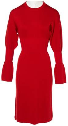 Tibi Red Wool Dresses