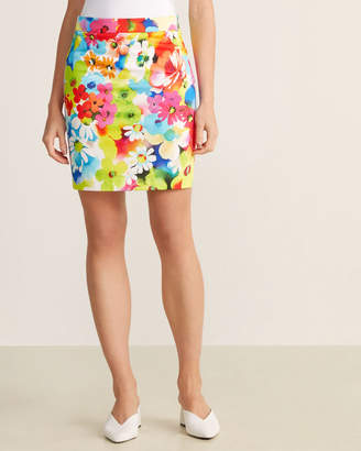 Love Moschino Watercolor Floral Skirt