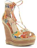 Jessica Simpson Adyson Printed Wedge Sandals
