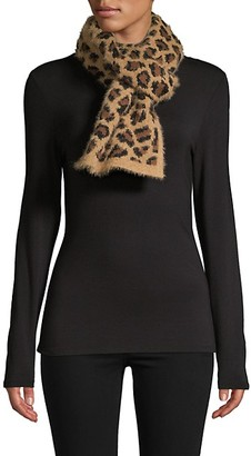 MARCUS ADLER Leopard-Print Eyelash Scarf