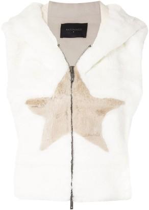 Lorena Antoniazzi Textured Star Detail Gilet Jacket