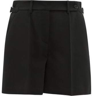 RED Valentino Tailored Crepe Shorts - Womens - Black