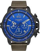 Diesel Men's DZ4405 Deadeye Black Ip Leather Watch