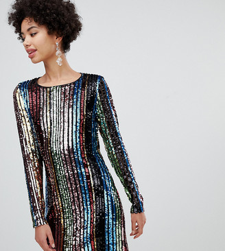 Stradivarius short rainbow sequin dress