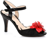 Bettie Page Black Red Shirley Pump