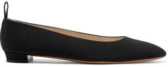 The Row Lady D Silk-crepe Ballet Flats