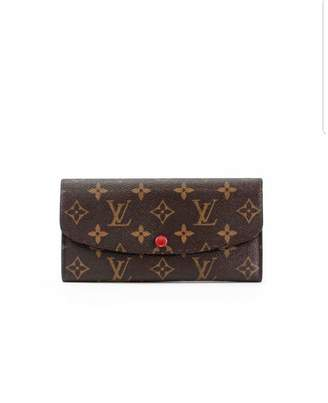 Louis Vuitton Emilie Brown Cloth Wallets