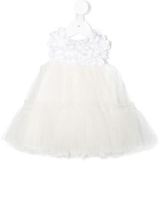 MonnaLisa Tiered Tulle Sleeveless Dress