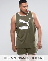 Puma Plus Jersey Vest In Green Exclusive To Asos