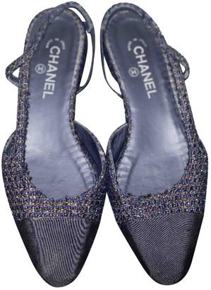 Chanel Slingback Multicolour Tweed Ballet flats