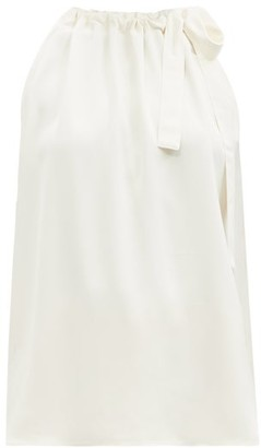Zimmermann Gathered-neck Twill Top - Ivory
