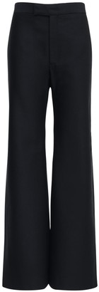 MONCLER GENIUS High Waist Wool & Cotton Gabardine Pants