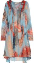 Emilio Pucci Paneled Printed Silk Dress