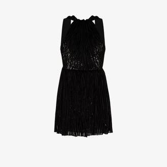 Saint Laurent Lame Velvet Mini Dress